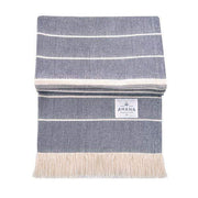 Amana Shops Cushions & Throws Navy with Natural Amana Weave Cotton Throw Kaufmann Mercantile
