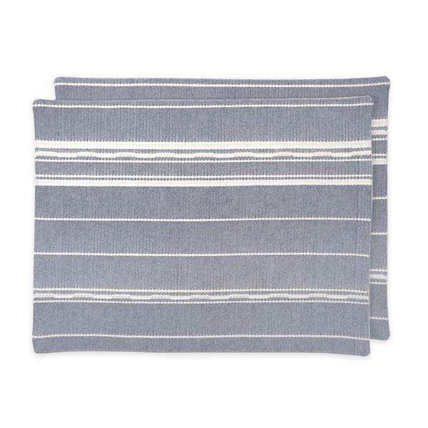 Amana Shops Tabletop Navy & Natural Amana Weave Cotton Placemats Kaufmann Mercantile