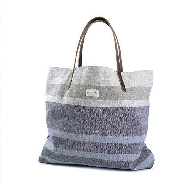 Amana Shops Tote Bags Dark Linen Eco2 Tote Kaufmann Mercantile
