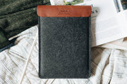 BAND & ROLL Cases & Sleeves Courier Leather + Felt iPad Case Kaufmann Mercantile