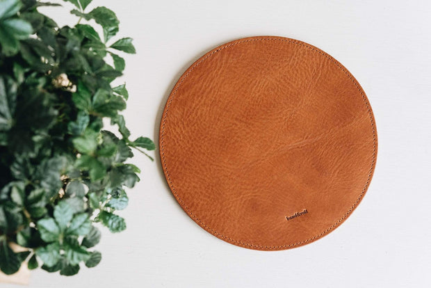 BAND & ROLL Small Leathergoods Hyp Leather + Felt Mouse Pad Kaufmann Mercantile