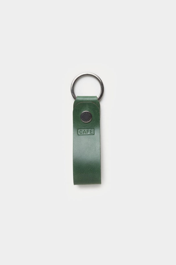Cafe Leather Everyday Carry Greenery Leather Key Chain Kaufmann Mercantile