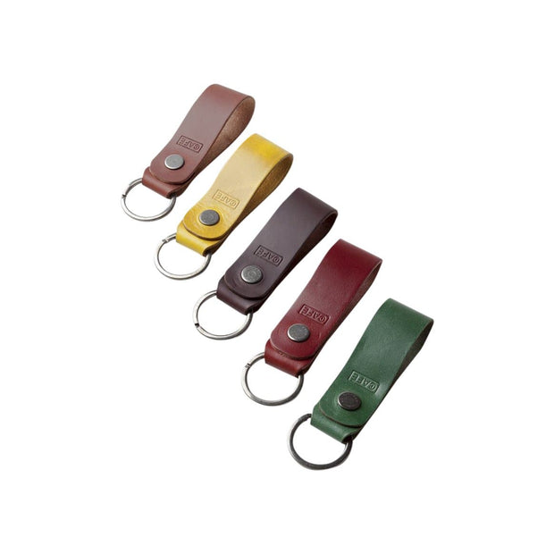 Cafe Leather Everyday Carry Roasted Leather Key Chain Kaufmann Mercantile