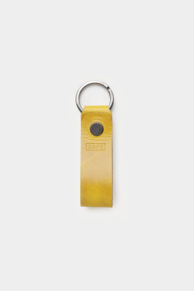 Cafe Leather Everyday Carry Spicy Mustard Leather Key Chain Kaufmann Mercantile