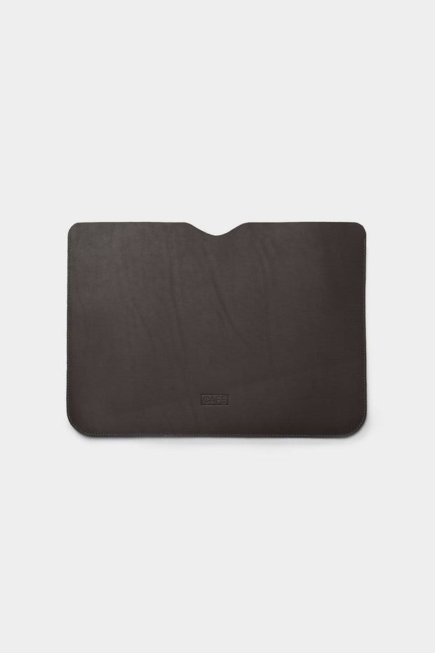 Cafe Leather Tech Cases Black Coffee Arica Macbook Sleeve Kaufmann Mercantile