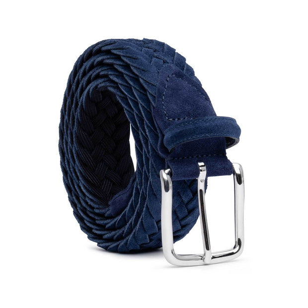 Dalgado Belts Blue Emiliano Braided Suede Belt Kaufmann Mercantile
