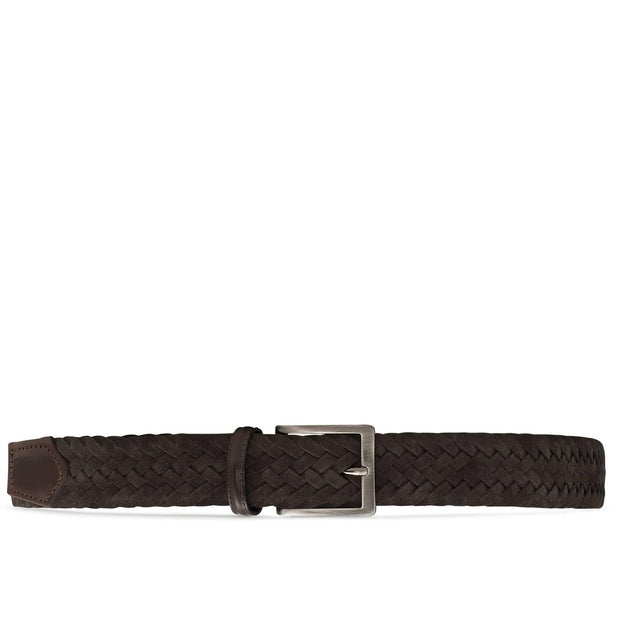 Dalgado Belts Brown Edoardo Braided Suede Belt Kaufmann Mercantile