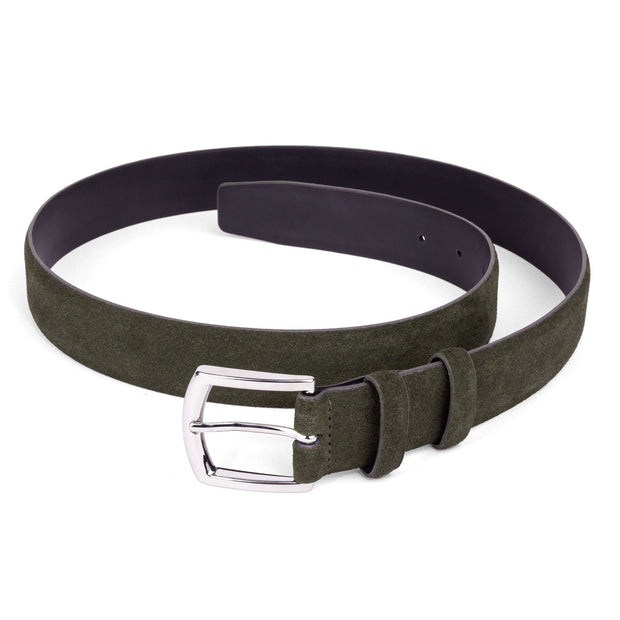 Dalgado Belts Green Giuseppe Suede Leather Belt Kaufmann Mercantile