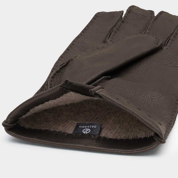 Dalgado Gloves Handmade Paolo Brown Cashmere-lined Deerskin Gloves Kaufmann Mercantile