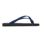 DANWARD Footwear Bicolored Cross Toe Flip-Flop - Black with Indigo Kaufmann Mercantile