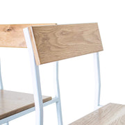 Edgework Crative Furniture White Oak / White Scout Chair in White Oak and White Steel Kaufmann Mercantile
