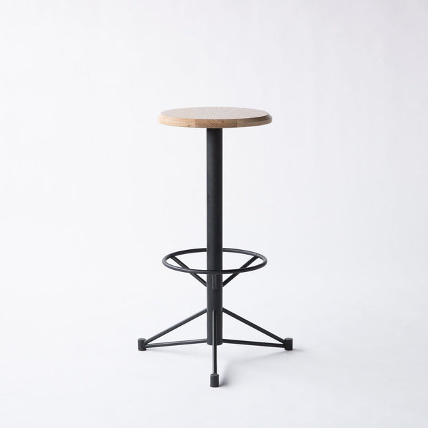 Edgework Crative Seating White Oak / Black Mast Bar Stool Kaufmann Mercantile