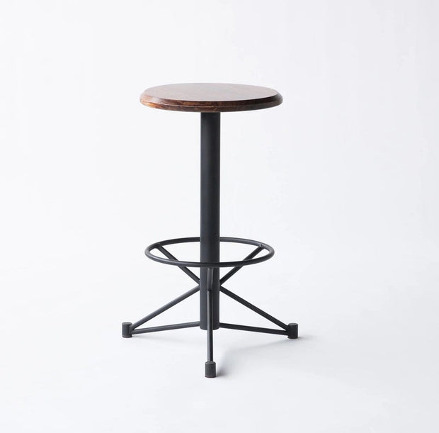 Edgework Crative Seating Black / Yes / No Mast Counter Stool - Walnut Kaufmann Mercantile