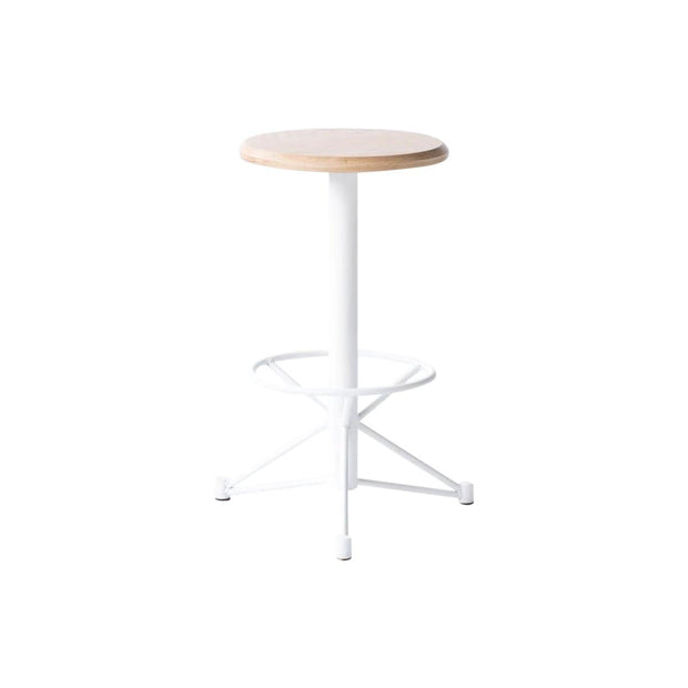 Edgework Crative Seating White / Yes / Yes Mast Counter Stool - White Oak Kaufmann Mercantile