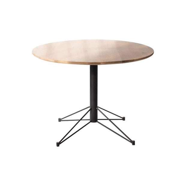 Edgework Crative Table White Oak / Black Mast Round Dining Table Kaufmann Mercantile