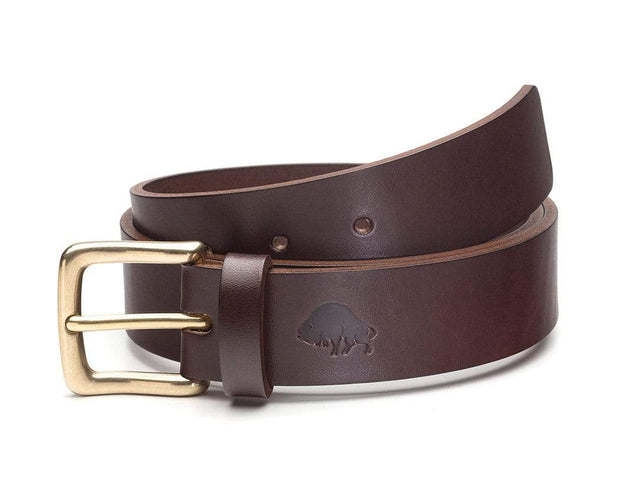 Ezra Arthur Belts 30 / Brown & Brass No. 1 Belt Kaufmann Mercantile