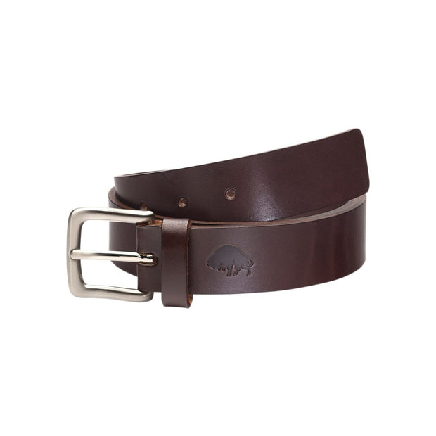 Ezra Arthur Belts 30 / Brown & Nickel No. 1 Belt Kaufmann Mercantile