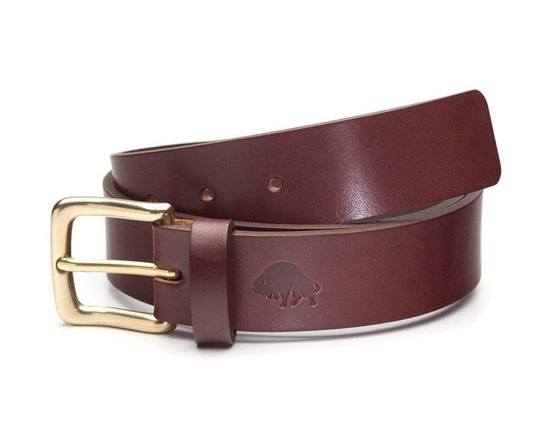 Ezra Arthur Belts 30 / Burgundy & Brass No. 1 Belt Kaufmann Mercantile