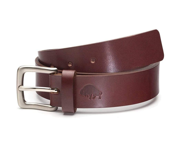 Ezra Arthur Belts 30 / Burgundy & Nickel No. 1 Belt Kaufmann Mercantile