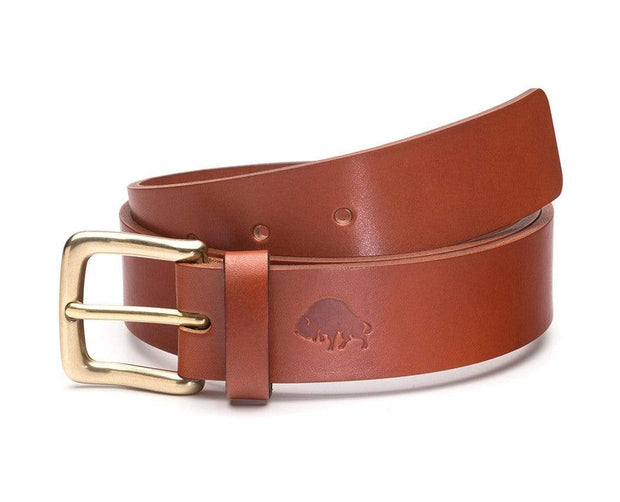 Ezra Arthur Belts 30 / Cognac & Brass No. 1 Belt Kaufmann Mercantile