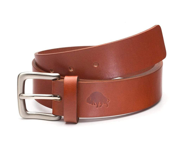 Ezra Arthur Belts 30 / Cognac & Nickel No. 1 Belt Kaufmann Mercantile