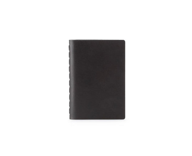 Ezra Arthur Notebooks & Writing Tools Jet Black Small Leather Notebook Kaufmann Mercantile