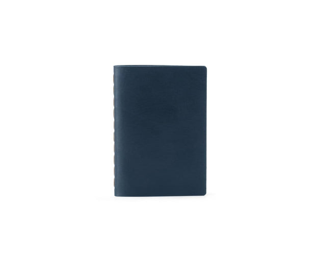 Ezra Arthur Notebooks & Writing Tools Navy Small Leather Notebook Kaufmann Mercantile