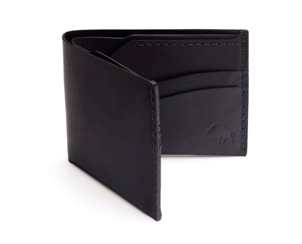 Ezra Arthur Wallets & Card Cases Jet Black No. 6 Classic Bifold Wallet Kaufmann Mercantile