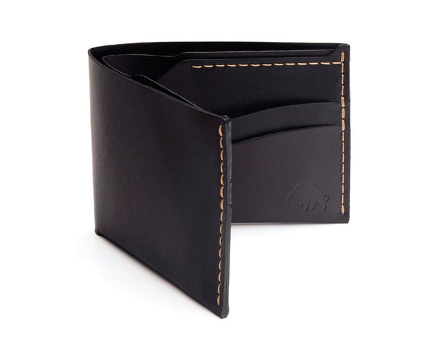 Ezra Arthur Wallets & Card Cases Jet Top Stitch No. 6 Classic Bifold Wallet Kaufmann Mercantile