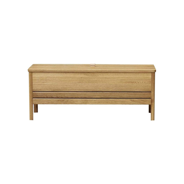 Form & Refine Decor A Line Storage Bench - Oak Kaufmann Mercantile