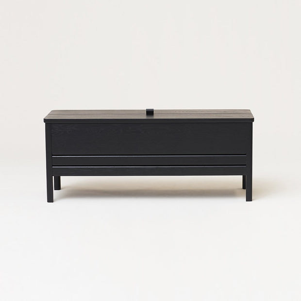 Form & Refine Decor Form & Refine A Line Storage Bench, Black-stained Kaufmann Mercantile