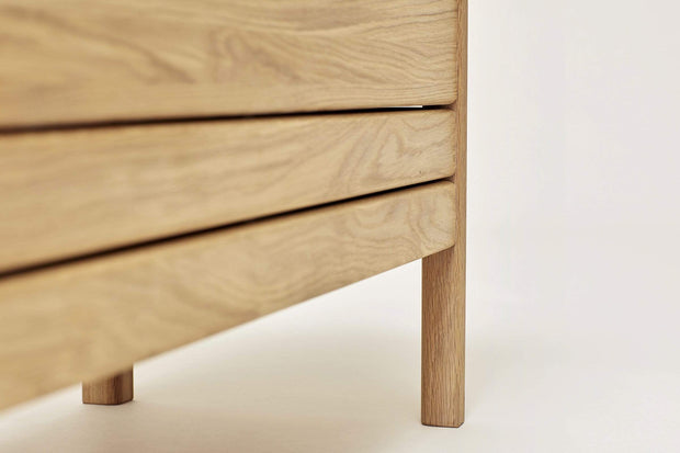Form & Refine Decor Form & Refine A Line Storage Bench, Oak Kaufmann Mercantile