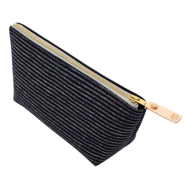 General Knot & Co. Bags One Size / Navy Indigo Chalk Stripe Travel Clutch Kaufmann Mercantile
