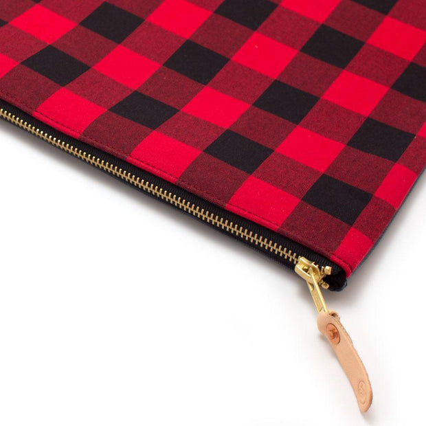 General Knot & Co. Tech Cases One Size / Red/Black Buffalo Check Large Laptop Sleeve + Carryall Kaufmann Mercantile