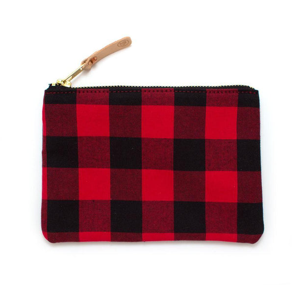 General Knot & Co. Travel Organization One Size / Red/Black Buffalo Check Small Carryall Kaufmann Mercantile