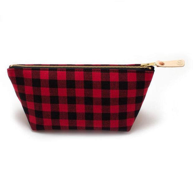 General Knot & Co. Travel Organization One Size / Red/Black Buffalo Check Travel Clutch Kaufmann Mercantile