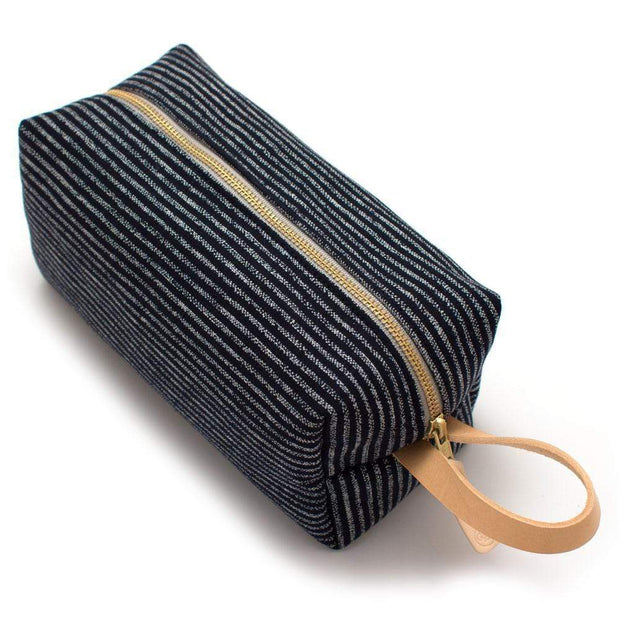 General Knot & Co. Travel Organization One Size / Navy/Ivory Japanese Indigo Chalk Stripe Travel Kit Kaufmann Mercantile