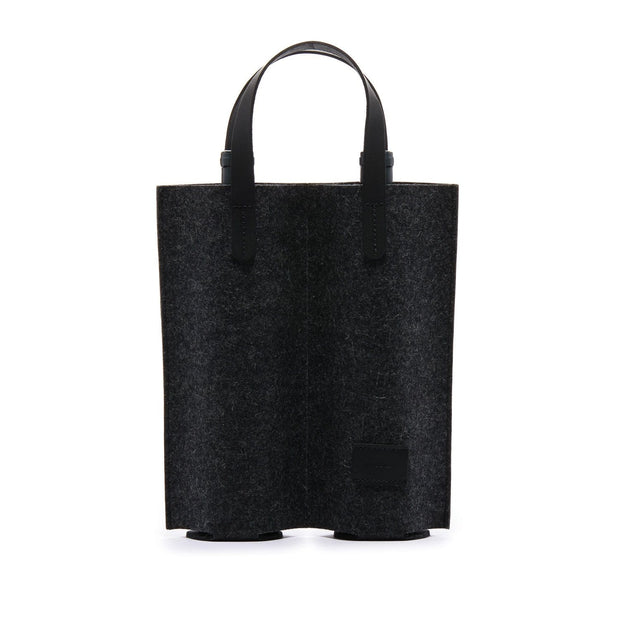 Graf Lantz Wine & Food Carriers Charcoal Cozy Carrier Duo Felt Black Kaufmann Mercantile