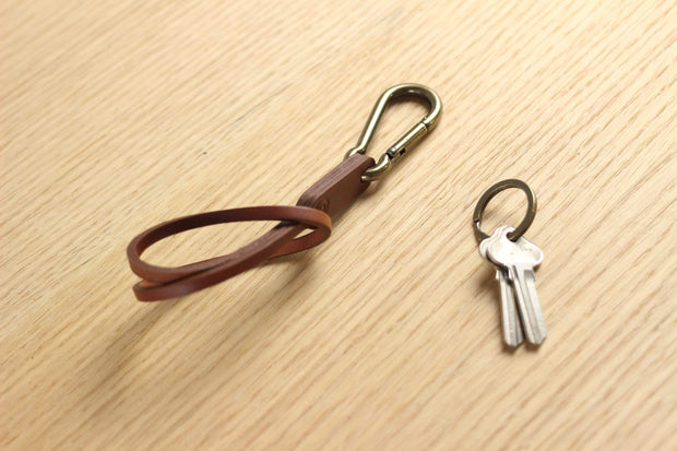 IEFrancis Minimalist Goods Small Leathergoods Australian Leather and Brass Key Strap Kaufmann Mercantile