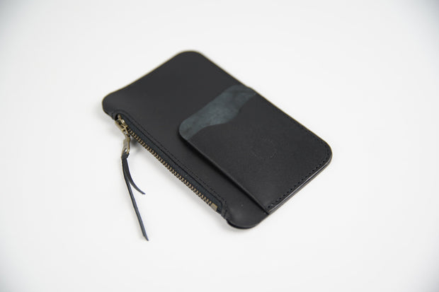 IEFrancis Minimalist Goods Wallets & Card Cases Black Australian Leather Pocket Zip Wallet Kaufmann Mercantile