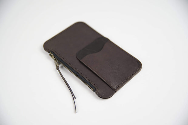IEFrancis Minimalist Goods Wallets & Card Cases Dark Brown Australian Leather Pocket Zip Wallet Kaufmann Mercantile