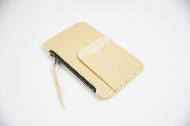 IEFrancis Minimalist Goods Wallets & Card Cases Natural Australian Leather Pocket Zip Wallet Kaufmann Mercantile