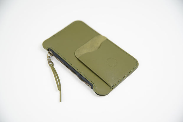 IEFrancis Minimalist Goods Wallets & Card Cases Olive Australian Leather Pocket Zip Wallet Kaufmann Mercantile