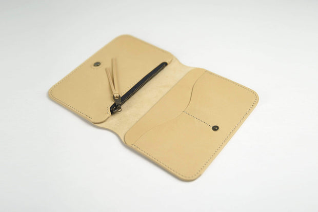 IEFrancis Minimalist Goods Wallets & Card Cases Natural / No Australian Leather Zip Fold Hybrid Wallet Kaufmann Mercantile