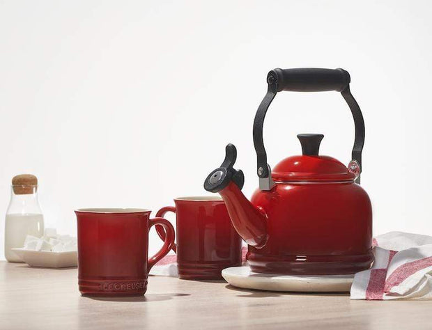 Le Creuset Coffee & Tea Demi Teakettle and Two Mug Set Kaufmann Mercantile