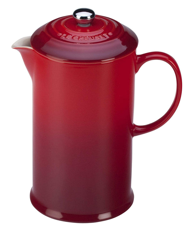 Le Creuset Coffee & Tea Cerise Stoneware French Press Coffee Maker Kaufmann Mercantile