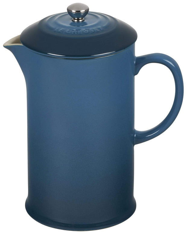 Le Creuset Coffee & Tea Deep Teal Stoneware French Press Coffee Maker Kaufmann Mercantile
