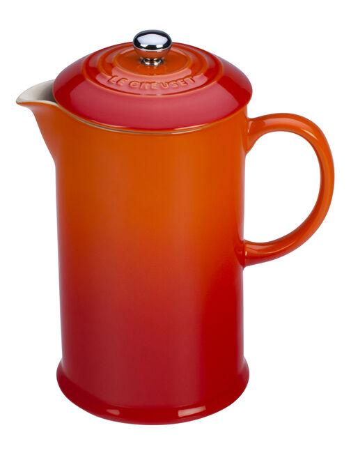 Le Creuset Coffee & Tea Flame Stoneware French Press Coffee Maker Kaufmann Mercantile