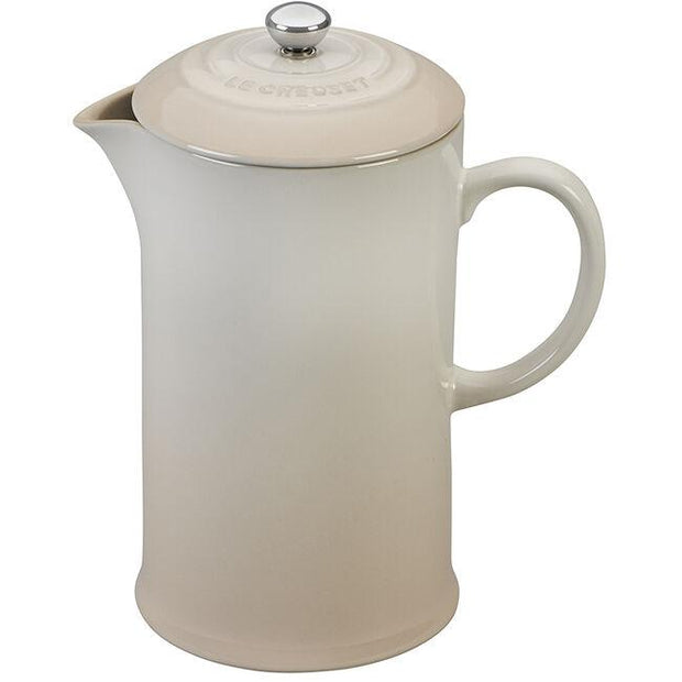 Le Creuset Coffee & Tea Meringue Stoneware French Press Coffee Maker Kaufmann Mercantile