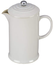 Le Creuset Coffee & Tea White Stoneware French Press Coffee Maker Kaufmann Mercantile